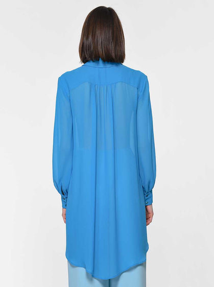 Turquoise Hi-Low Panel Tunic