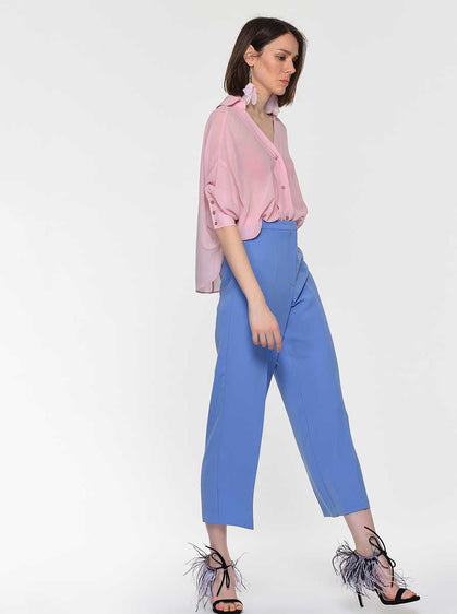 High Waisted Cropped Dress Pant