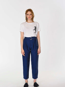 BELT DETAILED CROPPED PANTS