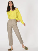 High-Waist Straight Cut Khaki