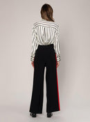 RIBBONED KNITWEAR PANTS