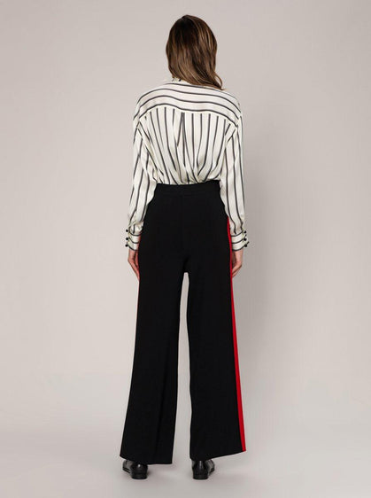 Black Wide Leg Knit Pant