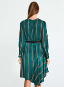 Emerald Pattern-Block Dress