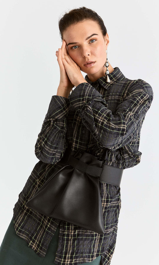 Plaid Flannel Printed Blouse