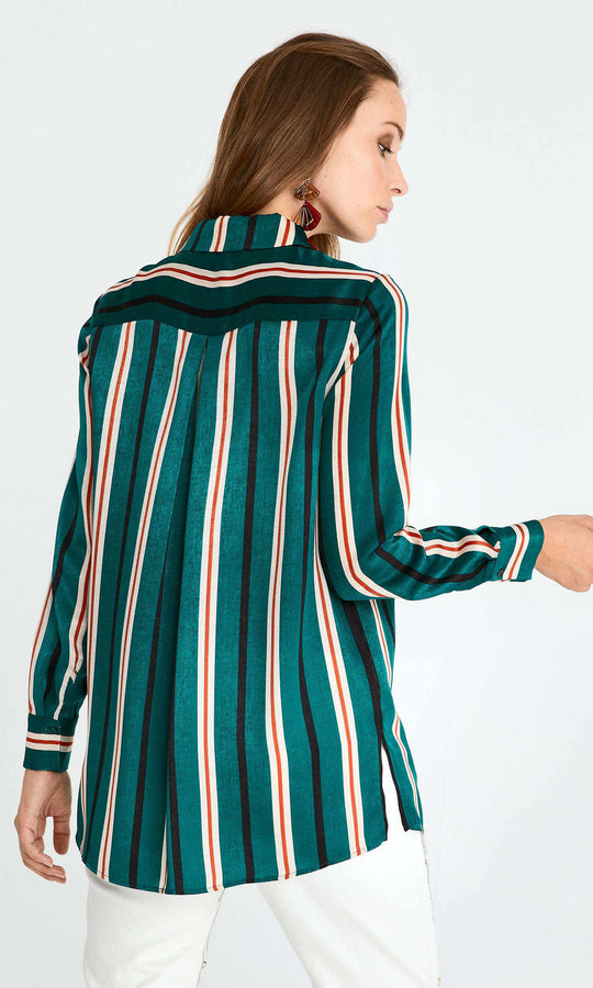 Emerald Striped Button Down