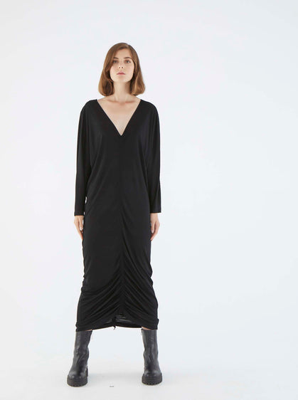 ROMAN USA-K2111017 DRESS-- [BLACK]