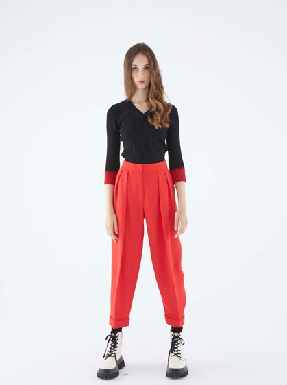 ROMAN USA-K2112039 PANTS-- [RED]