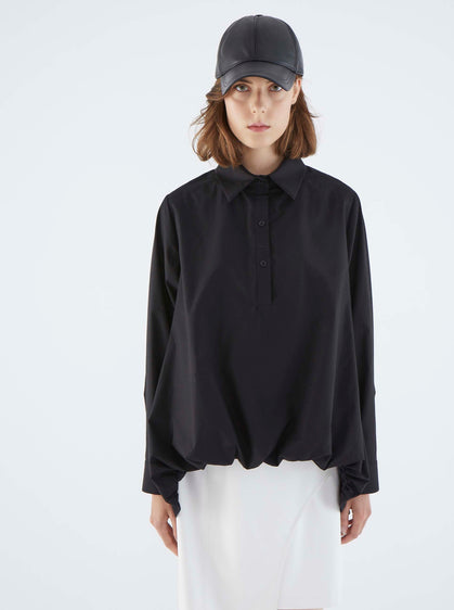 ROMAN USA-K2113005 BLOUSE-- [BLACK]
