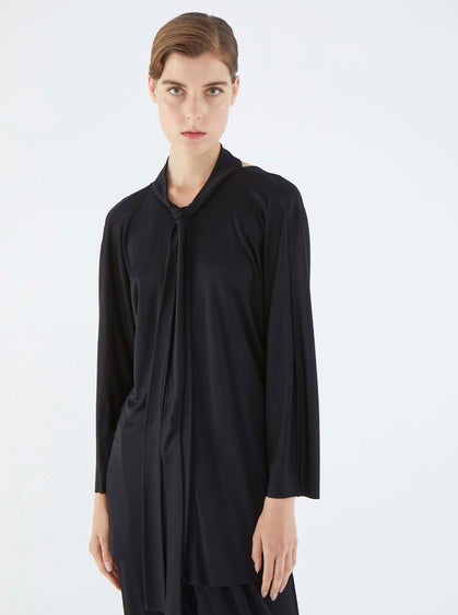 ROMAN USA-K2113060 BLOUSE-- [BLACK]