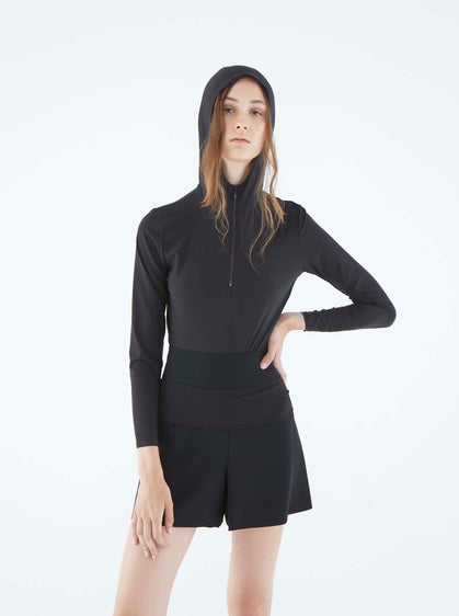 ROMAN USA-K2113070 BLOUSE-- [BLACK]