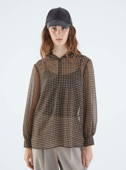 ROMAN USA-K2113087 BLOUSE-- [LIGHT-BROWN]