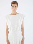 ROMAN USA-K2113109 BLOUSE-- [WHITE]