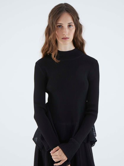 ROMAN USA-K2171019 KNITWEAR TOP-- [BLACK]