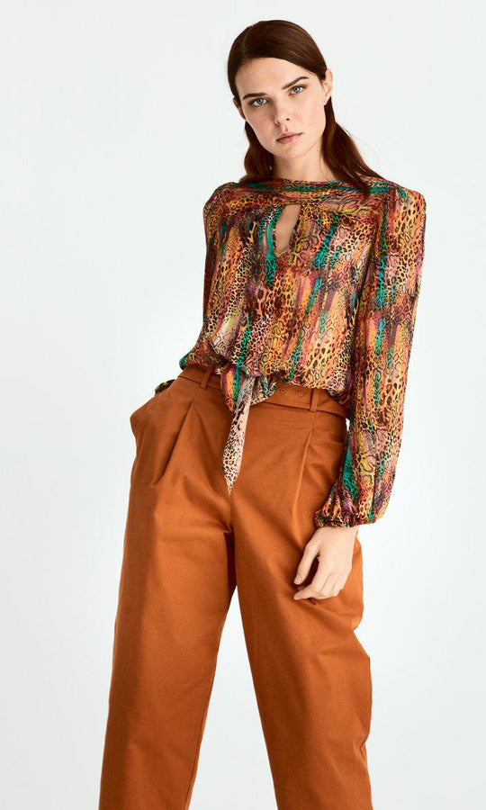 Cropped High Waist Pant