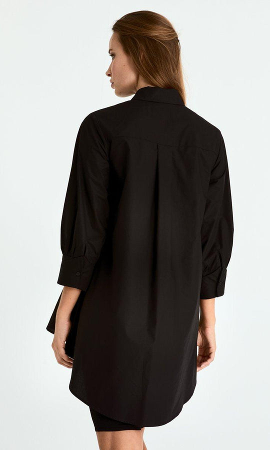 Dip Hem Structured Blouse
