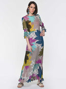 Floral Abstract Print Maxi Dress