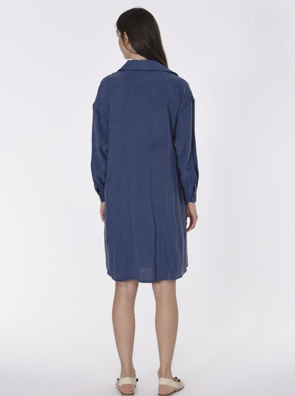 Essential Navy Shirt Dress