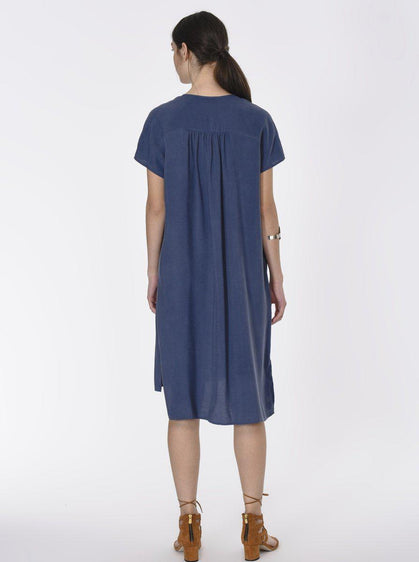 Essential Cap Sleeve Shirt Dress