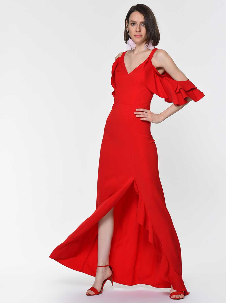 ROMAN USA-Y1911328 DRESS-- [RED]
