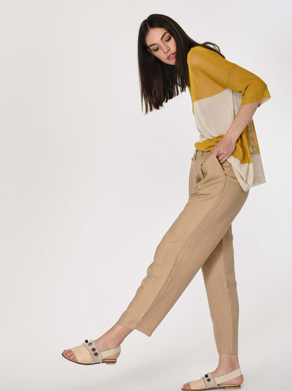 FRONT PLEATED POCKET PANTS