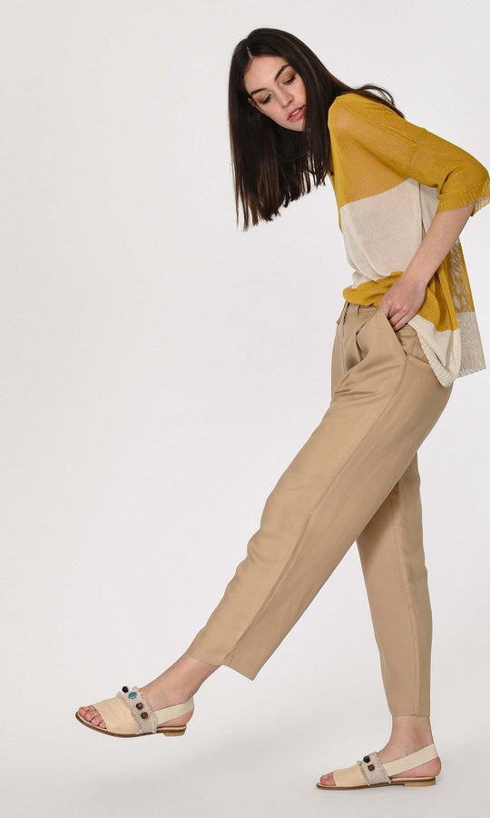 Front Pleat Canvas Pant