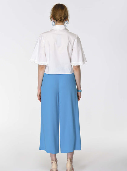 Asymmetric Pleated Culottes