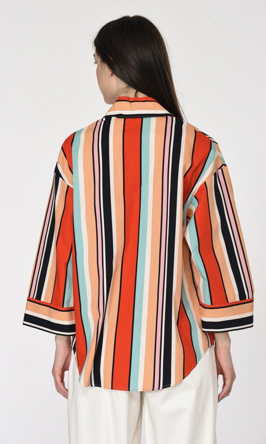 WIDE SLEEVE STRIPED SHIRT
