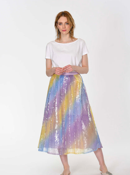 Mermaid Sequin Tea Skirt