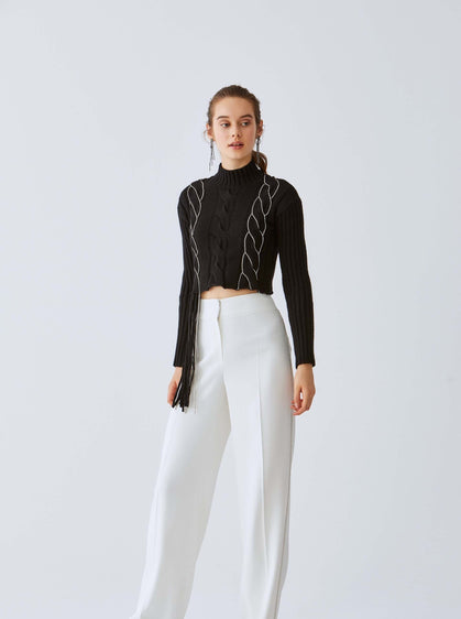 White Wide Leg Dress Pant