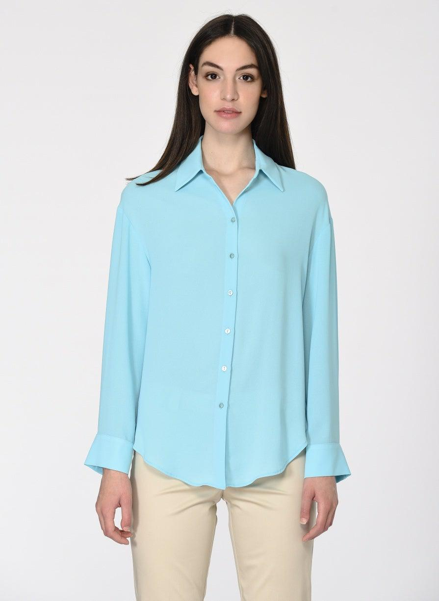 ROMAN USA-Aqua Button-Down-- [AQUA-BLUE]