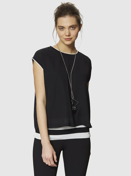 BLACK OVERLAY TOP