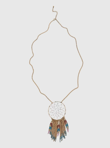 ROMAN USA-DREAM CATCHER NECKLACE-
