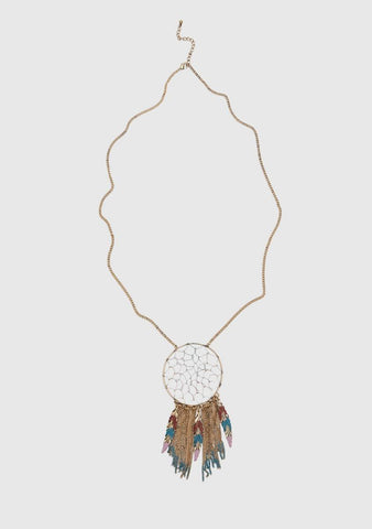LONG TASSEL NECKLACE IN GOLD