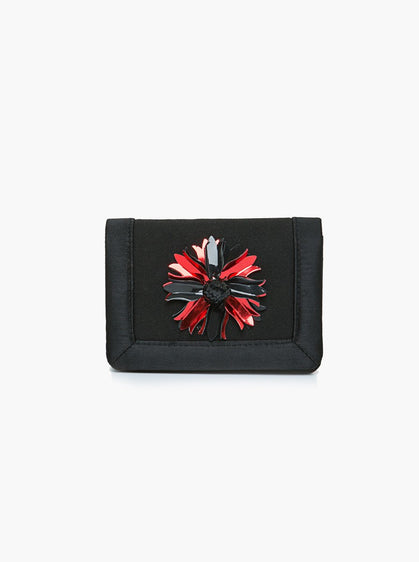 ROMAN USA-RED DETAIL MINI CLUTCH-