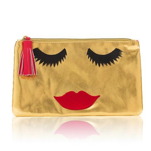 Accessories - GOLD BEAUTIFUL LADY MAKE UP BAG