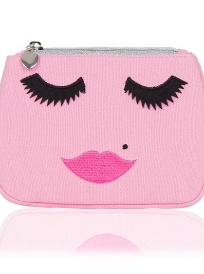 PINK FACE MAKEUP BAG