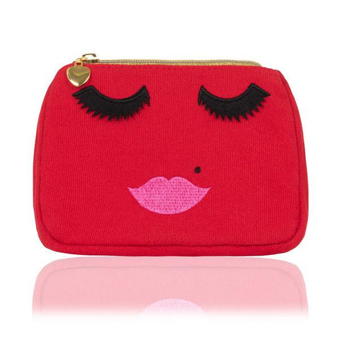 LUSCIOUS LIPS POUCH IN BLACK