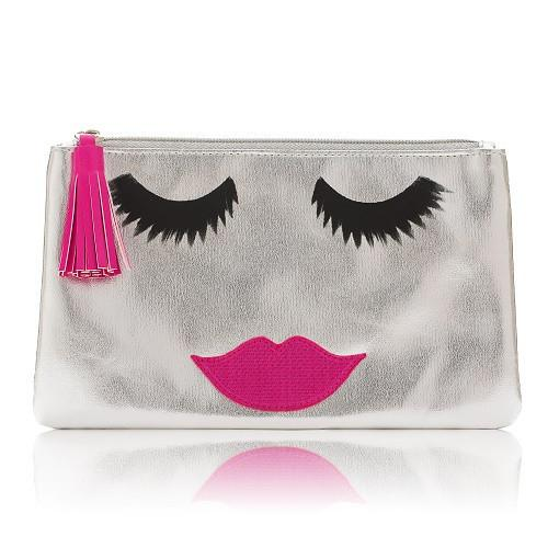 Accessories - SILVER BEAUTIFUL LADY MAKE UP BAG