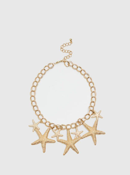 ROMAN USA-STARFISH NECKLACE-