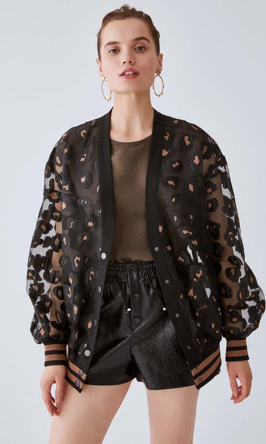 Sheer Leopard Print Jacket