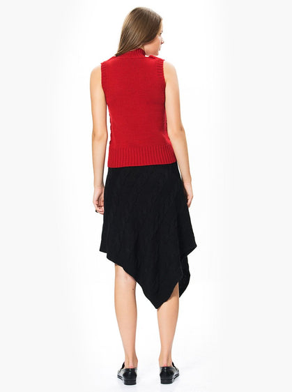 Apparel - Asymmetric Knitted Skirt