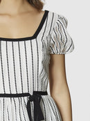 Apparel - BLACK AND WHITE PUFF DRESS