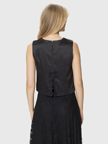 Apparel - BLACK BACK DETAILED TOP