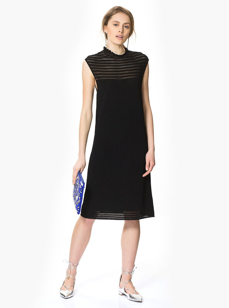 Apparel - BLACK KNIT DRESS