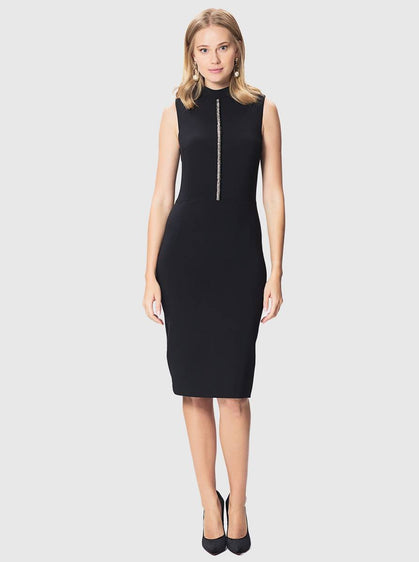 ROMAN USA-Sleeveless Mockneck LBD-