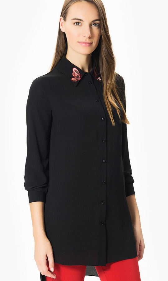 Black Butterfly Detail Tunic
