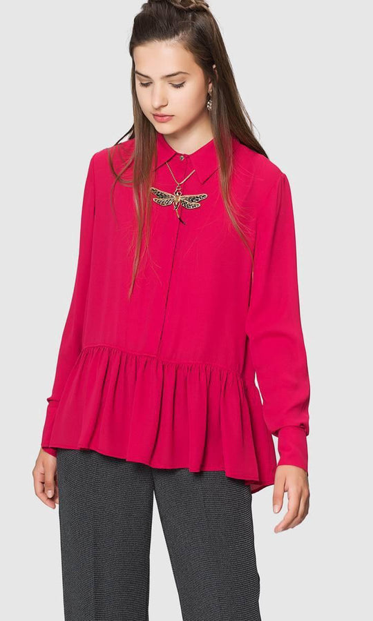 Apparel - BOTTOM PLEATED BLOUSE