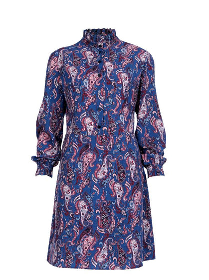 ROMAN USA-Paisley Printed Midi Dress-