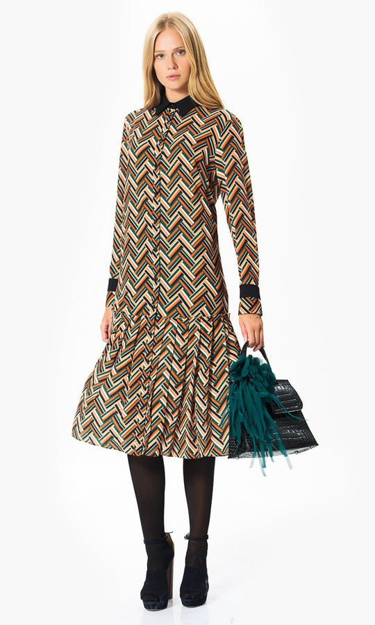 Apparel - Colorful Print Midi Dress