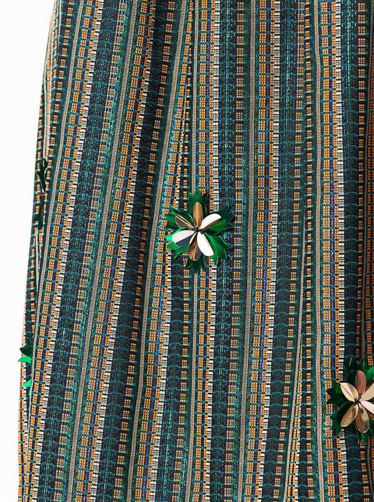 Apparel - Colorful Print Skirt With Flower Detailes